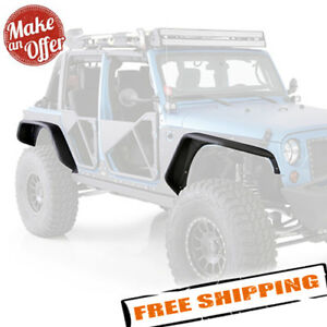 Smittybilt Xrc Front Rear Flux Fender Flares For 2007 2018 Jeep Wrangler Jk