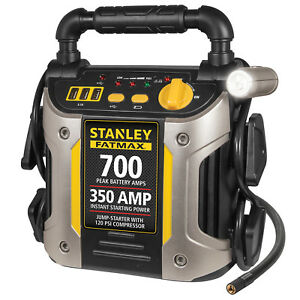 Portable Jump Starter 700 Amp With Air Compressor Car Truck Rv Jumper Box