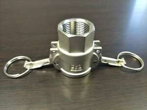 4 Inch Camlock Fitting Type D 316 Stainless Steel Female Camlock X Female Npt