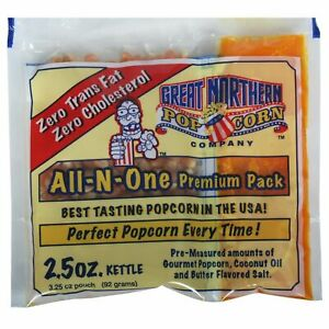 Case Of 24 Popcorn Packs Oil Salt Tri packs 2 5 Ounce Just Pour And Pop