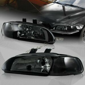 For 1992 1995 Honda Civic Hatchback coupe 1 piece Jdm Smoke Housing Headlights