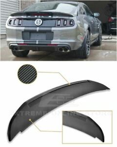 Imperfect For 10 14 Ford Mustang Gt500 Style Carbon Fiber Rear Wing Spoiler Kit