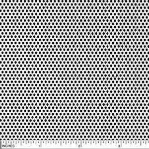 304 Stainless Steel Perforated Sheet Thickness 0 030 22 Ga Width 12 Len