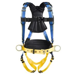Werner H133102 Blue Armor 2000 Construction Harness Quick Connect Legs M l