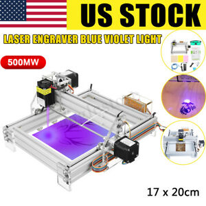 Us 500mw Mini Diy Laser Engraving Marking Machine Wood Logo Printer Engraver