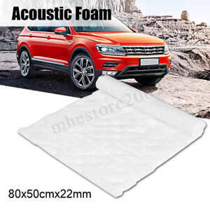 22mm Self Adhesive Car Acoustic Foam 80x50cm Closed Cell Soundproof Insulation