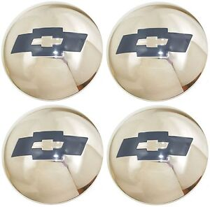1954 1955 1st Series Chevrolet Truck 1 2 Ton Hubcap Set Stainless