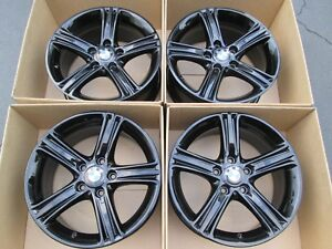 17 Bmw 330 335 3 Series Wheels 325 New Gloss Black Wheels Rims Set 4 Caps