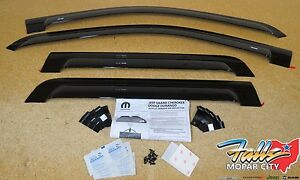 2011 2019 Jeep Grand Cherokee Side Window Air Deflectors Mopar Oem