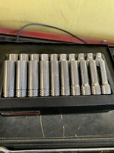 Snap On 20 Piece 1 2 Drive 6 point Metric Flank Drive Shallow Deep Socket Set