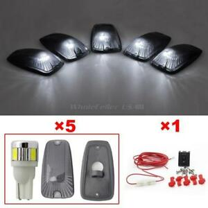 5pcs Cab Roof Running Smoke Light T10 6 5730 Smd White Led For Chevy Wiring Pack