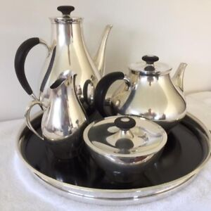 Mid Century Gorham Directional Sterling Coffee Tea Set