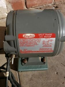 Dayton 1 3 Hp Split Phase Electric Motor 1725 Rpm 5k281b