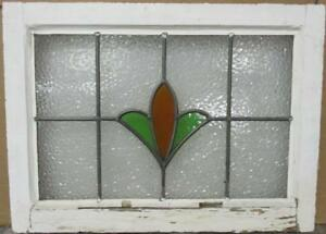 Mid Sized Old English Leaded Stained Glass Window Pretty Floral 23 25 X 17