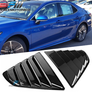 Fits 18 19 Toyota Camry Window Louvers 2pc Carbon Fiber Cf Look