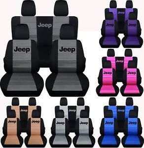 Fit Jeep Wrangler Jl 2dr 4 Dr 2018 On Front Rear Seat Covers With Design