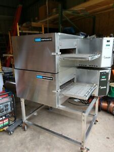 Lincoln Impinger Double Conveyor Pizza Oven Model 1132 Used 208 3 Phase Electric