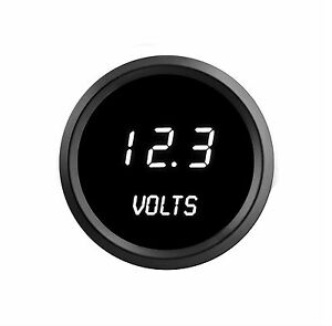 52mm 2 1 16 In Digital Voltmeter Intellitronix White Leds Black Bezel Warranty