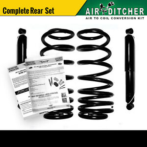 97 02 Ford Expedition 2wd Rear Air To Shock Springs Conversion Kit Pair X2