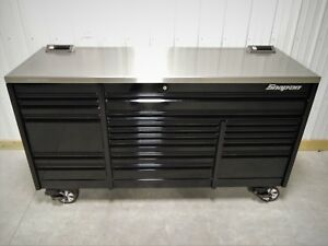 Snap On Black 84 Epiq Tool Box Toolbox Power Stainless Steel Work Top