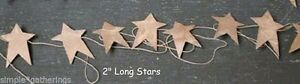 Primitive Rusty Tin Star Garland 6 Ft Long With 9 2 Stars Christmas Crafts