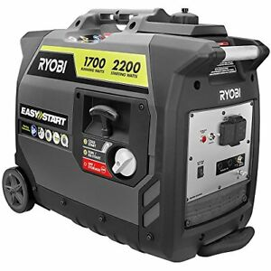 Ryobi Digital Inverter Generator 2 200 watt Gray Ryi2200gr