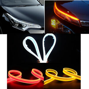 2x 30cm Flexible High Brightness Led Dual Ribbon Steering Indicator Light Strip