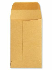 No 7 Brown Kraft 28 Large Catalog Coin Envelopes 3 1 2 X 6 1 2 Inches