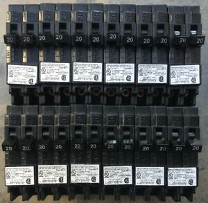 12 Pcs Murray Crouse hinds Mp2020n Circuit Breaker 20a 2 1pole New