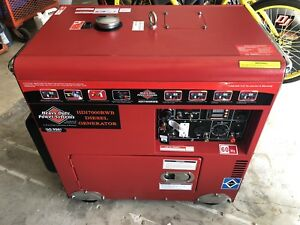 Heavy Duty Power Systems 7000eda 7000watt Diesel Generator may45 New