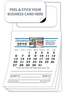 500 2019 Magnetic Business Card Calendars Real Estate Edition
