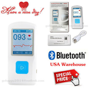 Contec Portable Color Tft lcd Pm10 Portable Ecg Monitor Bluetooth Heart Disease