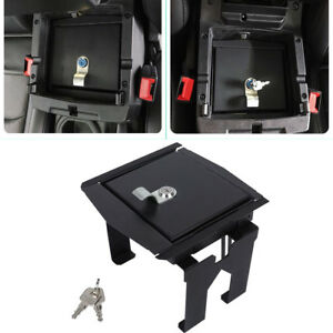 Security Console Insert Safe Storage Lock Box For 2018 2019 Jeep Wrangler Jl Jlu