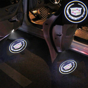 2xwireless Ghost Shadow Projector Logo Led Light Courtesy Door Step For Cadillac