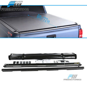 Fits 05 19 Nissan Frontier 6ft Bed Lock Black Roll Up Tonneau Cargo Cover