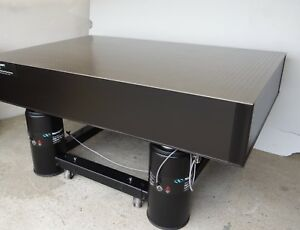 Ship Tested Newport Rs 4000 Optical Table I 2000 Vibration Isolation Casters