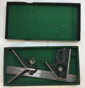 Vintage Lufkin Rule Co No 4r Grad 6 Ruler With Square Center Heads