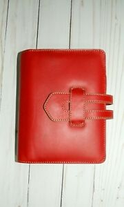 Franklin Covey Hpov Red Leather Compact Planner Binder