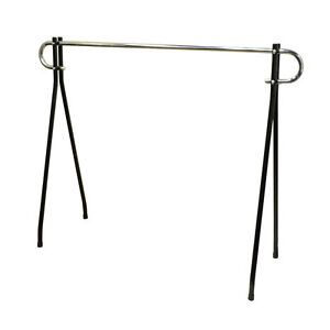 64 h X 62l Single Bar Clothing Clothes Garment Rack Display Retail Fixture Black