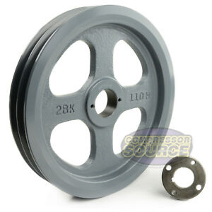 Cast Iron 10 75 2 Groove Dual Belt B Section 5l Pulley 1 3 16 Sheave Bushing