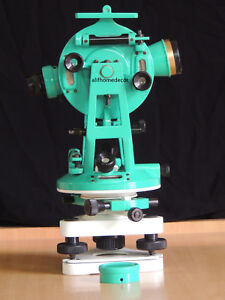 New 15 Brass Transit Theodolite Surveyors Vintage Surveying Instrument