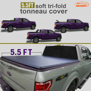 Tonneau Cover Tri Fold For 04 14 Ford F150 Pickup Truck Crew Cab 5 5ft Bed