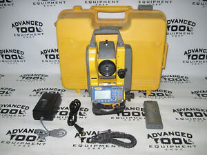 Spectra Ts415 Total Station Transit With Case Battery Charger Data Cable