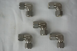 lot Of 5 Swagelok Ss 810 9 Stainless Steel Elbow Union Fitting 1 2 X 1 2