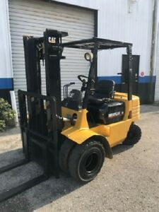 Caterpillar Cat Dp25 5000 Lbs Diesel Forklift Dual Wheel 131 Ht Refurbished