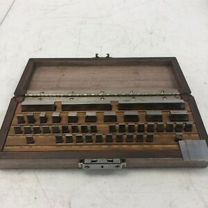 Webber 100 4 000 Gage Block Set See Pictures Rare W Case