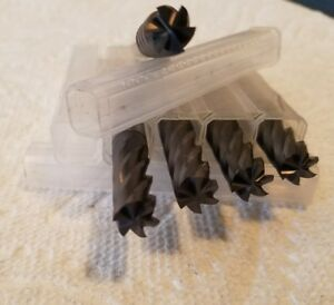 3 8 6 Flute Coated Finishers End Mills 3 0 Oal 1 25 Loc lot Of 5