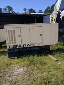 Generac 50 Kw Diesel Generator Daewoo Engine 6 200 Hours Single Phase