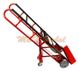 2 In 1 Professional 4 Wheel Appliance Hand Truck Dolly Cart Moving Mobile Lift