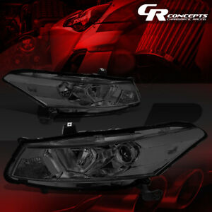 Pair Projector Headlight Lamp For 08 12 Honda Accord 2 door Coupe Smoked clear